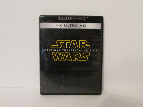"""Star Wars Ep. 4 IV A New Hope Original Theatrical 4K """"Despecialized"""" Blu-Ray (Cover Version 1)"""