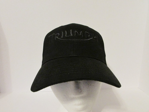 Triumph Motorcycle Logo in BLACK VER 2 Embroidered Baseball Hat - Cap