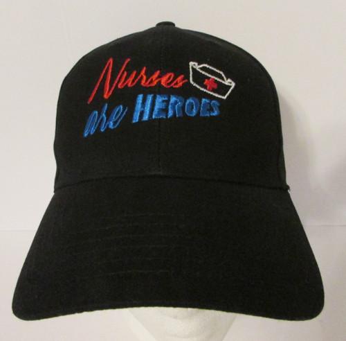 Nurses are Heroes Embroidered Baseball Hat - Cap (Nurse - First Responder)