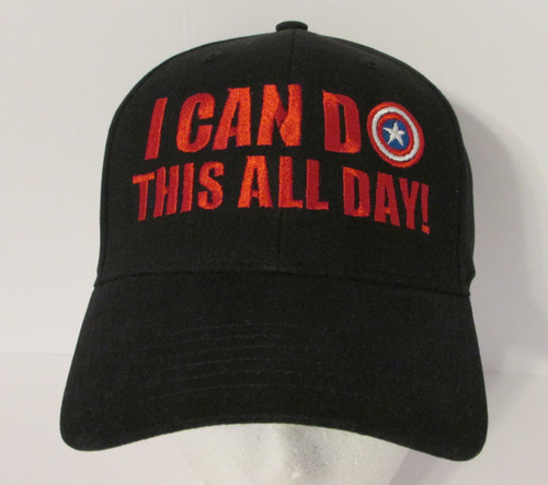 Captain America Logo - I Can Do This All Day Quote - Embroidered Baseball Hat - Cap