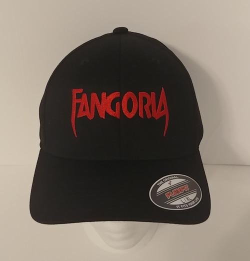 Fangoria Magazine Logo in RED - Embroidered Baseball Hat - Cap