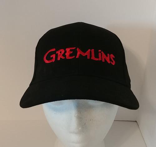 Gremlins Movie Logo Embroidered Adult Baseball Hat - Cap - OSFA or Flex Fit