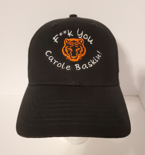 Tiger King F**k You Carole Baskin w/ Tiger Face - Embroidered Baseball Hat - Cap
