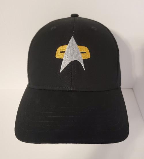 "Star Trek Voyager ""Command"" Symbol Logo - Embroidered Baseball Hat - Cap"