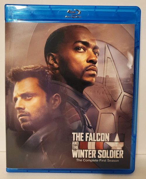 Marvel's The  Falcon and the Winter Soldier The Complete First Season (2021) Blu-ray Starring: Anthony Mackie, Sebastian Stan, Wyatt Russell, Emily VanCamp, Daniel Brühl