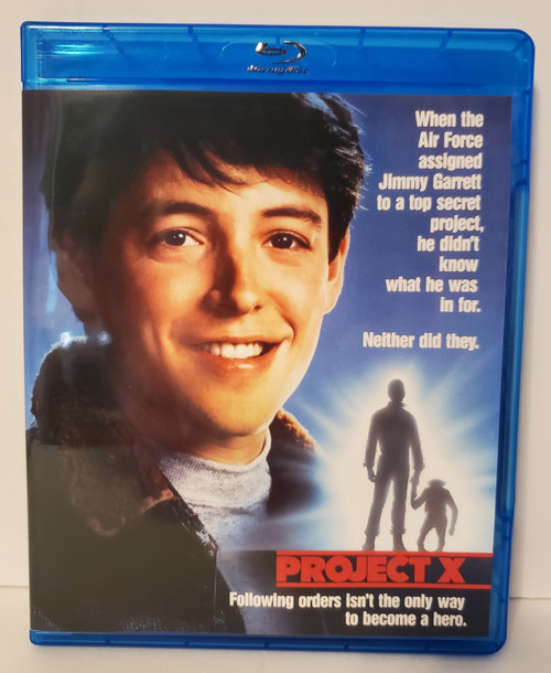 Project X (1987) Blu-ray Starring: Matthew Broderick, Helen Hunt, William Sadler, Jean Smart