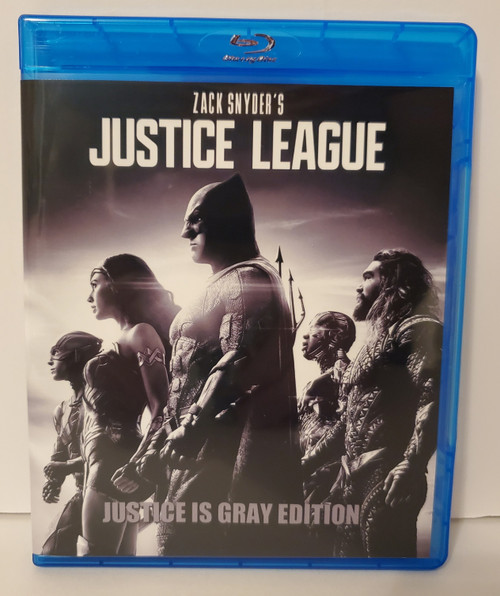 Zack Snyder's Justice League: Justice is Gray Edition B&W (2021) Blu-ray Starring: Ben Affleck, Henry Cavill, Amy Adams, Gal Gadot, Ezra Miller, Jason Momoa, Ray Fisher, Jeremy Irons, Diane Lane, Connie Nielsen, J.K. Simmons