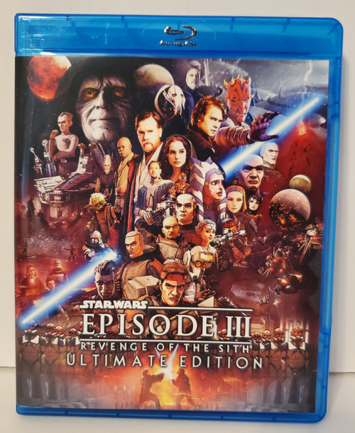 Star Wars: Episode III Revenge of the Sith Ultimate Edition (2021 Fan Edit) w/ The Clone Wars (2020), The Bad Batch (2021) and Deleted Scenes Blu-ray