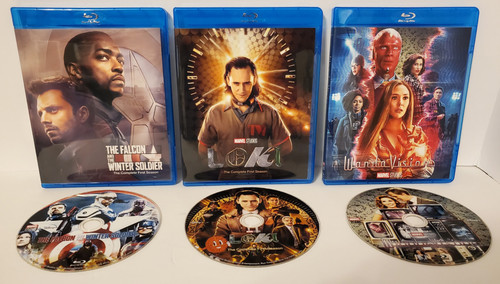 Disney+ MCU Series BUNDLE with ALL 3 First Seasons of WandaVision, The Falcon and the Winter Solider and Loki on Blu-ray