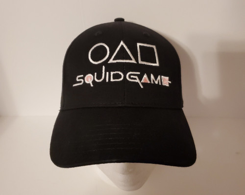 Squid Game Logo #2 (w/ Symbols) Embroidered Baseball Hat - Cap