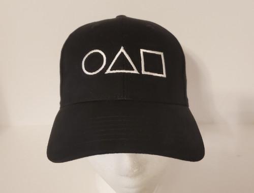 Squid Game - Symbols Hat Embroidered Baseball Hat - Cap