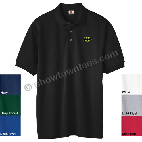 Batman (Classic) Logo Embroidered Adult Polo Shirt
