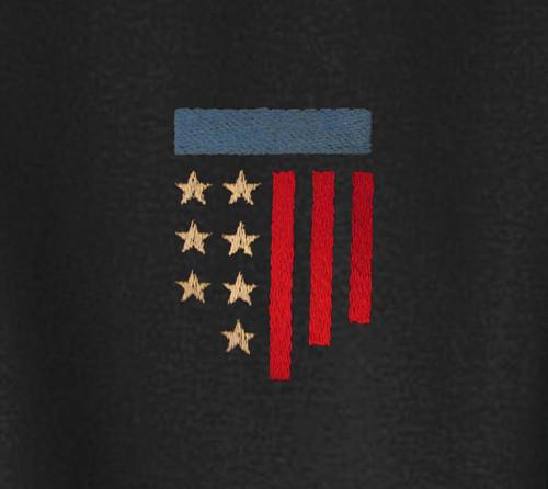 ca1af380 American Flag (Modern Design) Embroidered Adult Polo Shirt