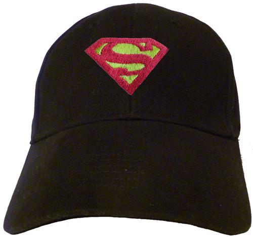 Superman / Supergirl Chest Logo Embroidered Baseball Hat - Cap