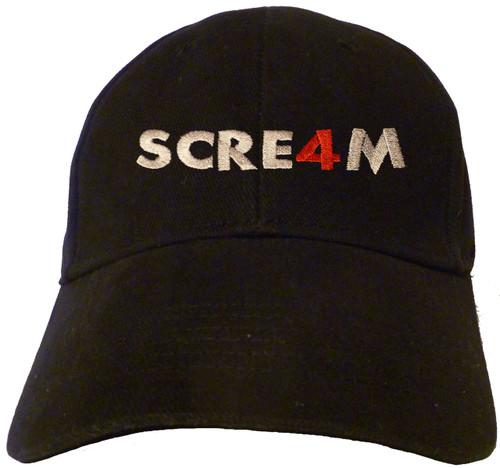 Scream 4 Logo Embroidered Baseball Hat - Cap