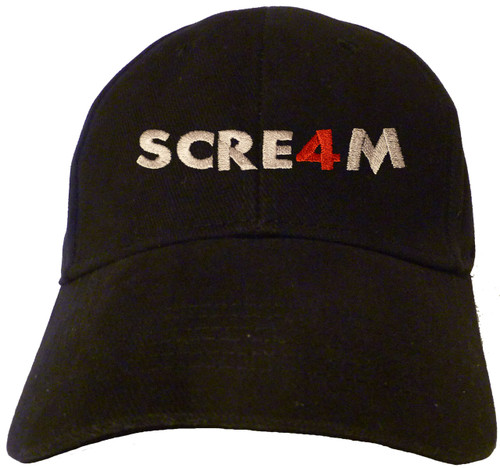 Scream 4 Logo Embroidered Baseball Hat - Cap