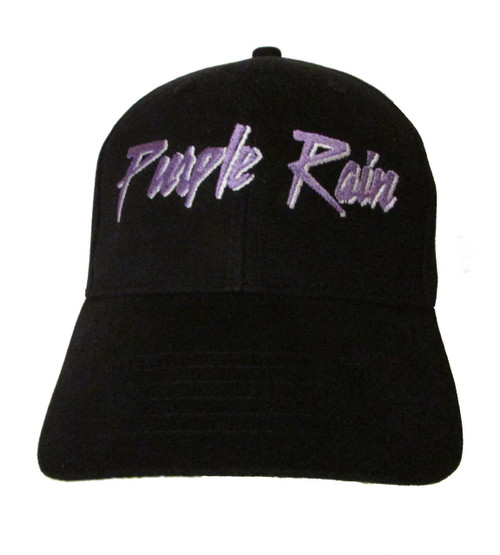 Prince - Purple Rain Logo - Ebroidered Baseball Hat - Cap