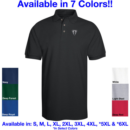 Triumph Motorcycle Logo Ver 1 Embroidered Adult Polo Shirt
