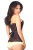 Lavish Dark Brown Lace Overbust Corset w/Zipper