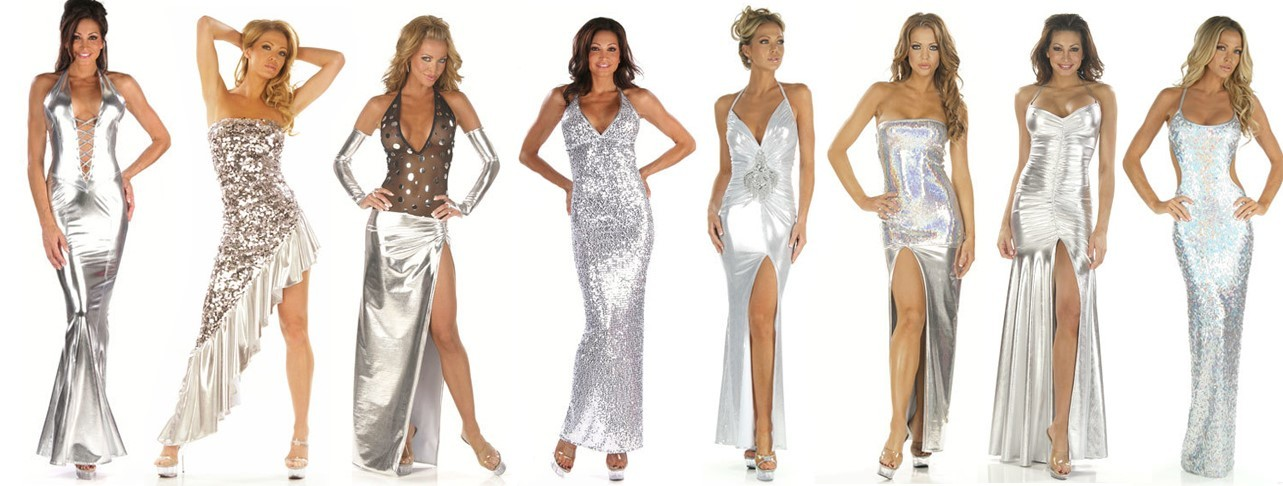 Silver Custom Gowns