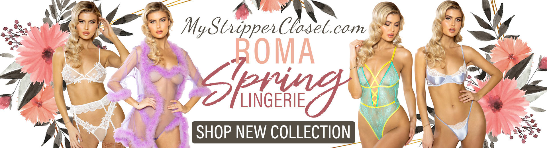 sexiest spring 2020 lingerie from roma on MyStripperCloset.com