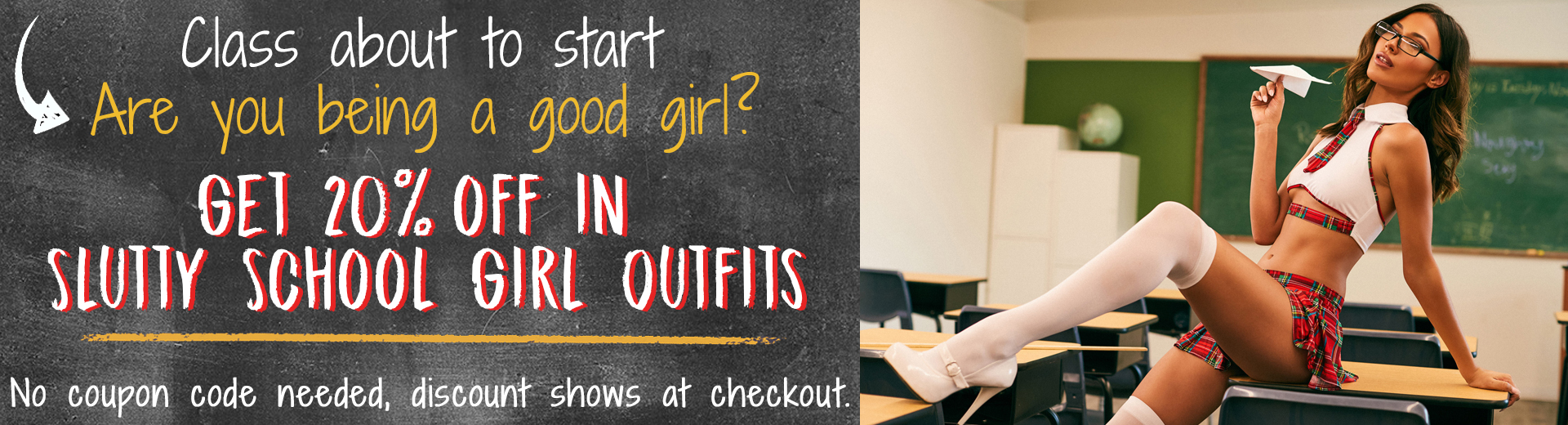 Sexy School Girl Outfit Sale 20% off