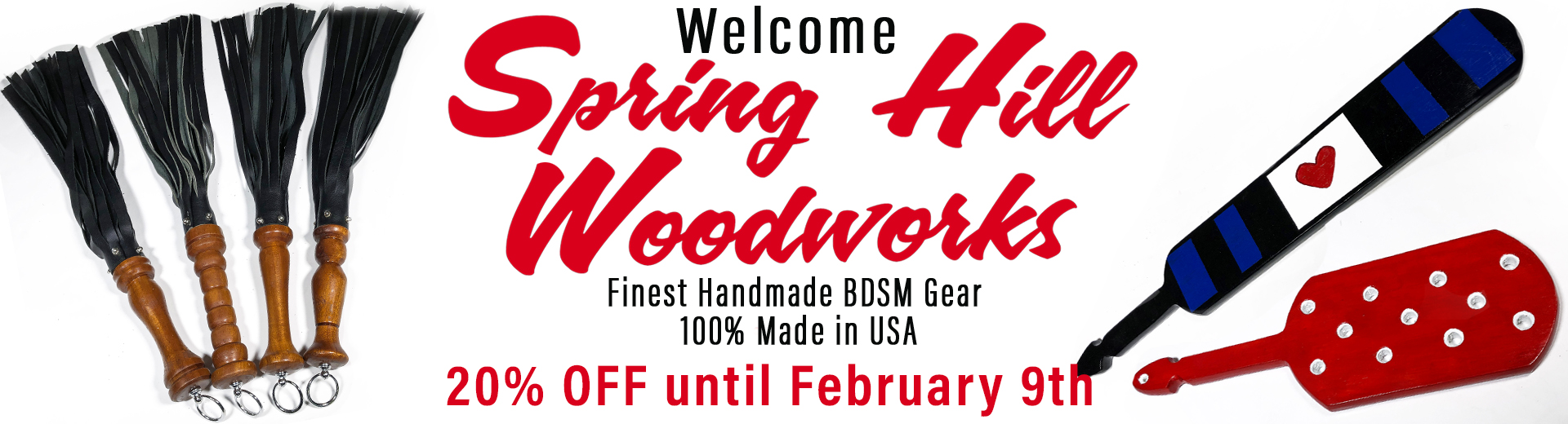 20% off spring hill wood works