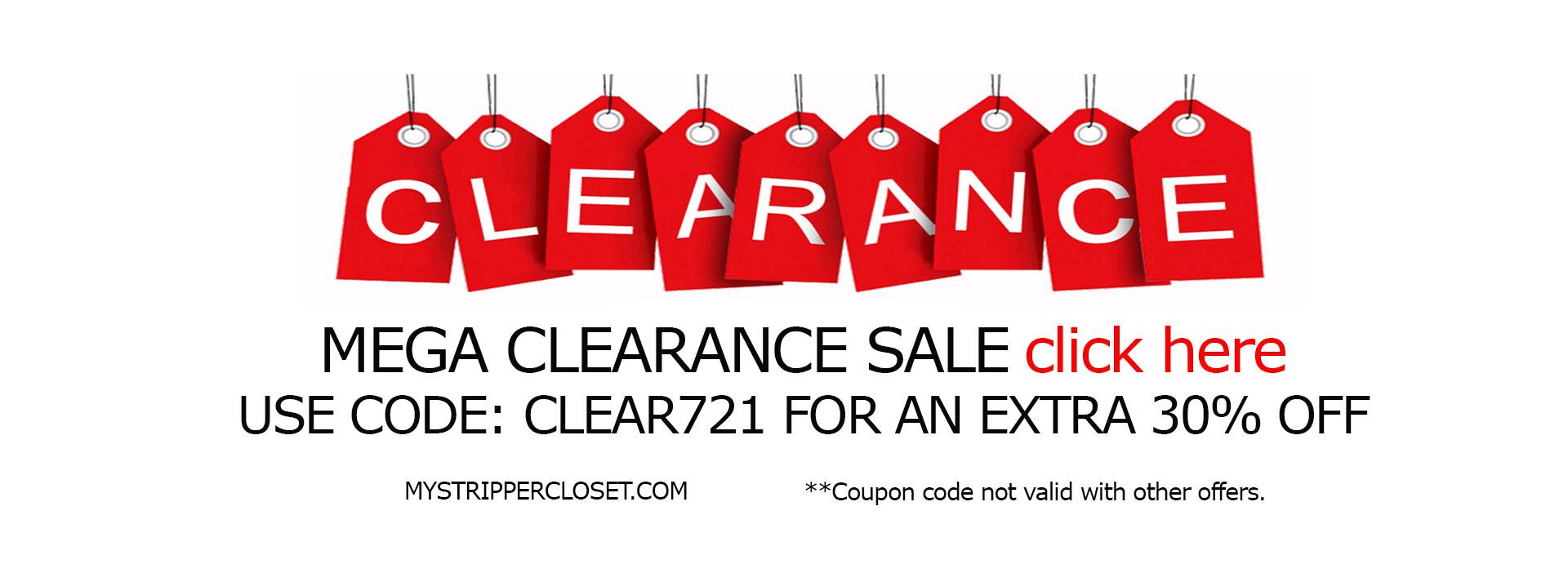 30% off clearance mystrippercloset.com