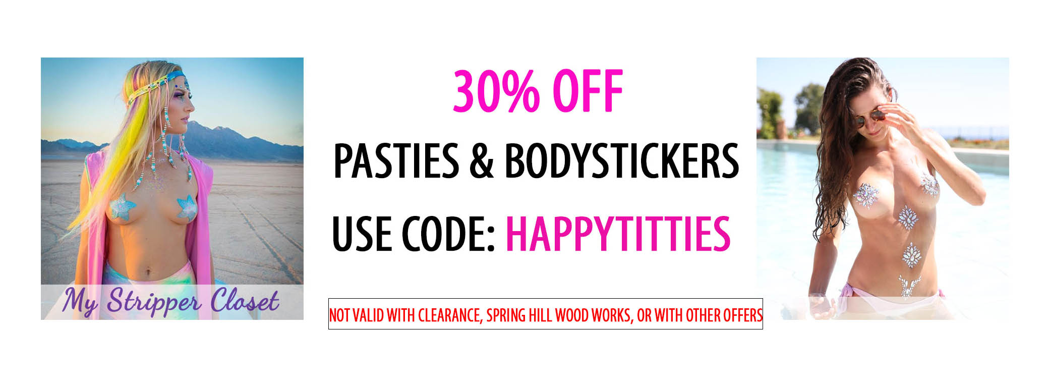 30% OFF PASTIES AND BODYSTICKERS MYSTRIPPERCLOSET.COM