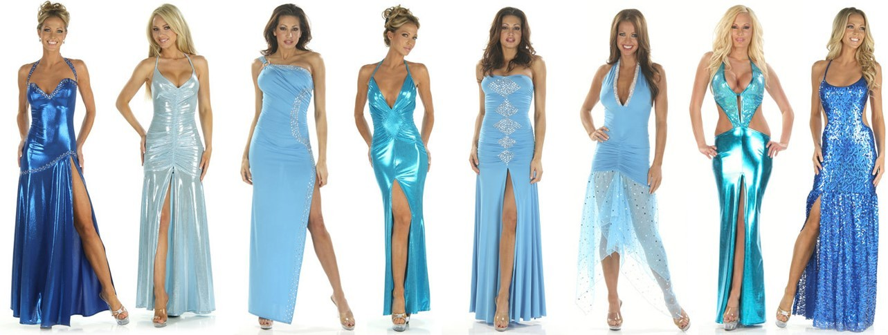 Blue Custom Gowns