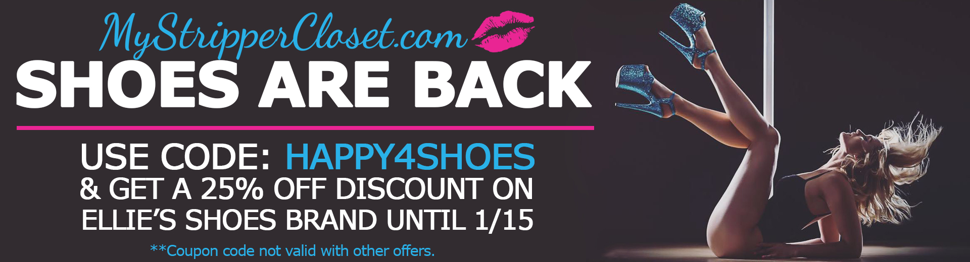 Shoes are back on MyStripperCloset.com Sale on Ellie Shoes!