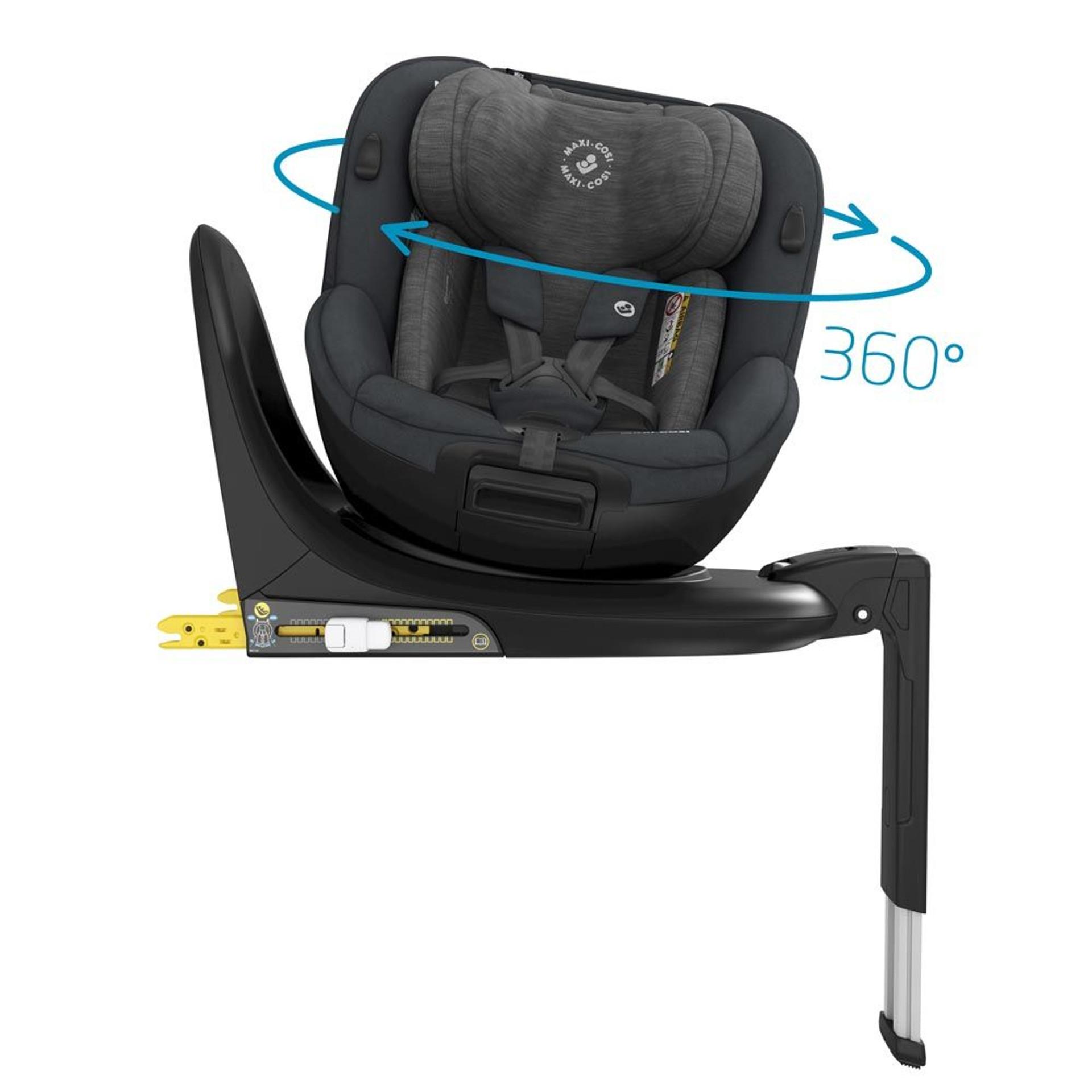 Maxi Cosi Mica 360 Spin Car Seat - Authentic Graphite