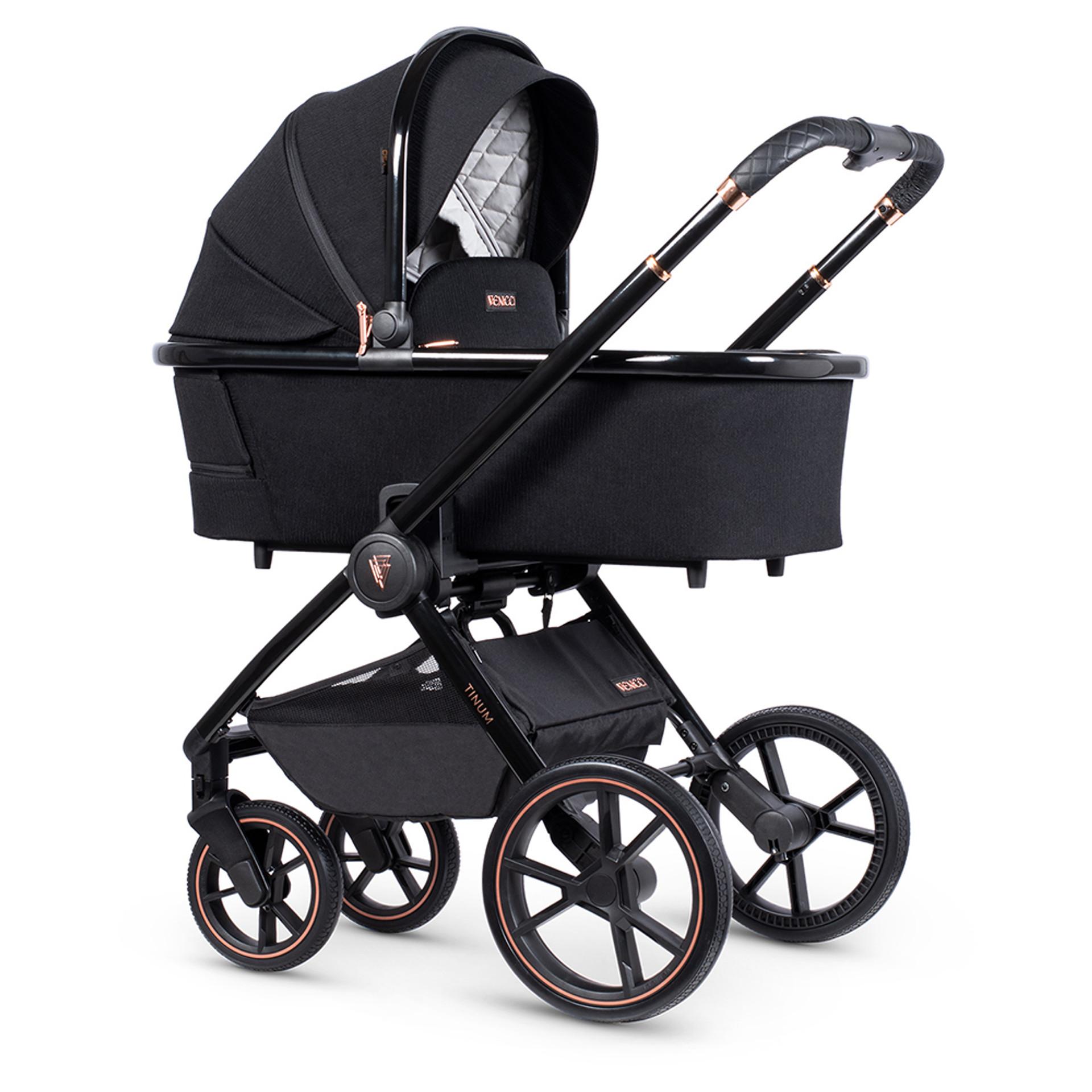 Venicci Tinum Special Edition Carrycot Stylish Black