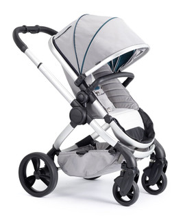 iCandy Peach Satin Pushchair - Dove Grey With Changing Bag