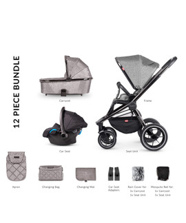 Venicci Tinum 3-in-1 Travel System - Grey