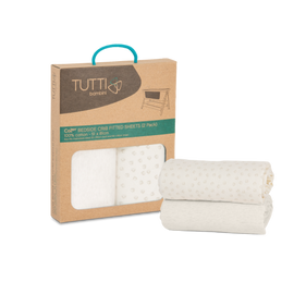 Tutti Bambini CoZee Fitted Sheets (2 Pack) - Neutral / Pebble