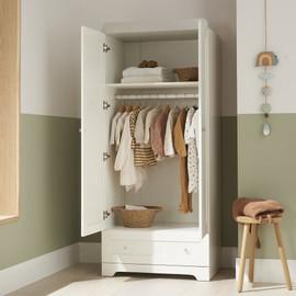 Tutti Bambini Rio Wardrobe - White/Dove Grey