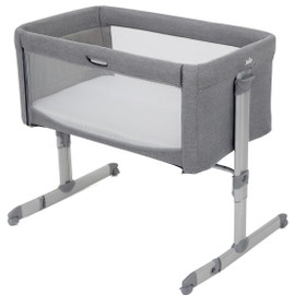 Joie Roomie Bedside Crib – Grey Flannel