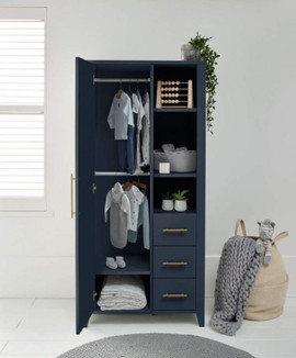 Mamas & Papas Melfi Storage Wardrobe - Midnight