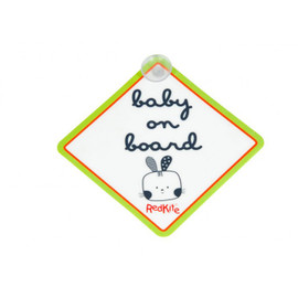 Red Kite Baby On Board Sign - Cotton Tail