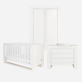 Tutti Bambini Rimini 3 Piece Room Set - High Gloss White