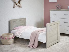 Obaby Nika Mini Cot Bed - Grey Wash & White
