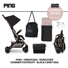 ABC Design Ping Compact Stroller Everything Bundle - Rose Gold