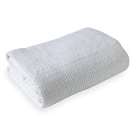Clair de Lune Soft Cotton Cellular Cot Blanket - White
