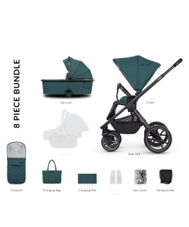 Venicci Tinum 2.0 2in1 Travel System - Teal Bay