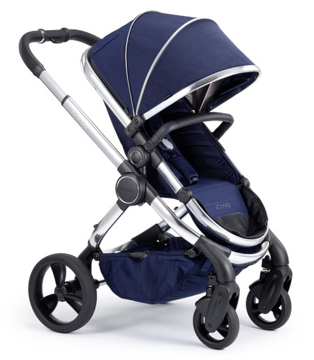 iCandy Peach Chrome Pushchair - Indigo With Changing Bag