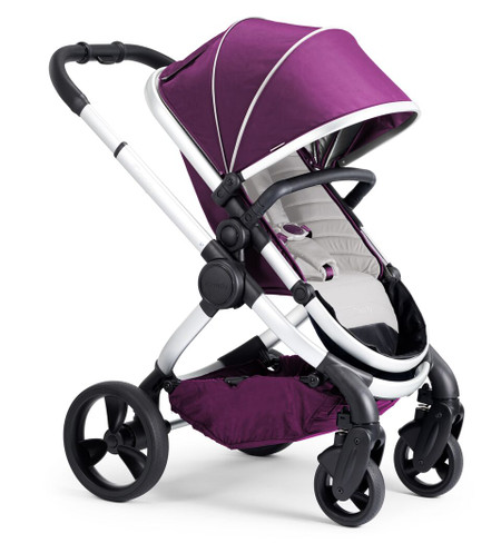 iCandy Peach Satin Pushchair - Damson With Changing Bag