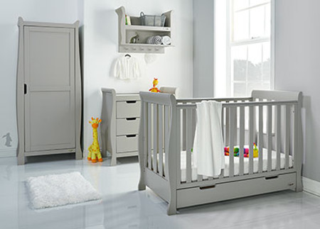 Obaby Stamford Mini 3 Piece Room Set - Warm Grey