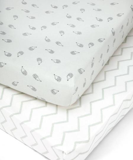 Mamas & Papas 2 Cot/Bed Fitted Sheets - Aqua