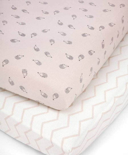 Mamas & Papas 2 Cot/Bed Fitted Sheets - Pink